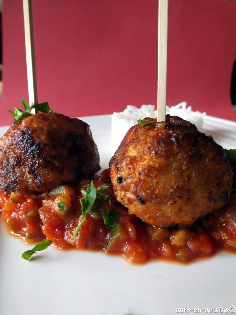 boulettes de poulet curcuma tomates blogs de cuisine. Black Bedroom Furniture Sets. Home Design Ideas